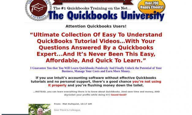 Online Quickbooks Tutorial by the Quickbooks University