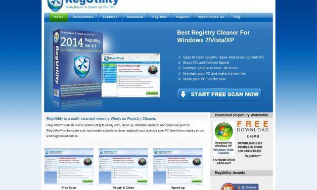 RegUtility – Best Registry Cleaner For Windows 7/Vista/XP