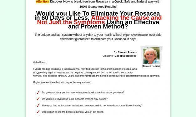 Goodbye Rosacea | Definitive Solution to Get Rid of Rosacea