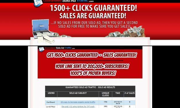 GUARANTEEDSOLOADTRAFFIC.com – GET 1500+ CLICKS GUARANTEED – SALES GUARANTEED