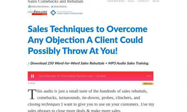 + Sales Rebuttals » Overcoming Objections » Closing Techniques