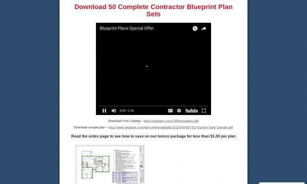 Blueprints for Houses, Cabins, Garages and Barns: Download 50 Complete Contractor Blueprint Plan Sets