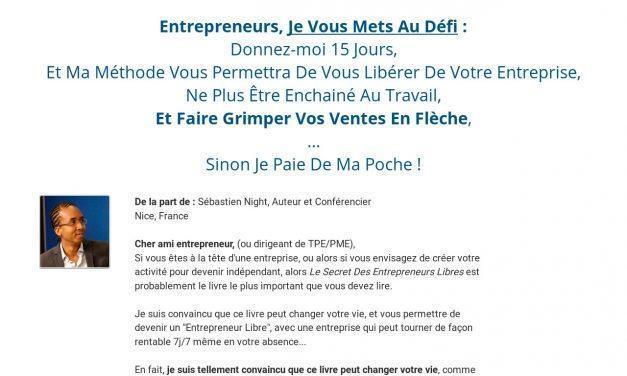 Le Secret des Entrepreneurs Libres – Livre Gratuit