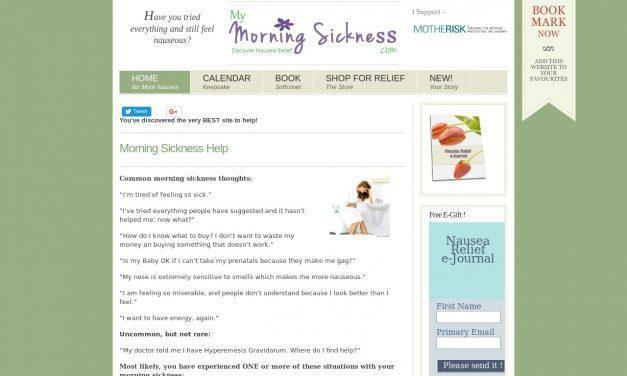 The BEST Help for Morning Sickness