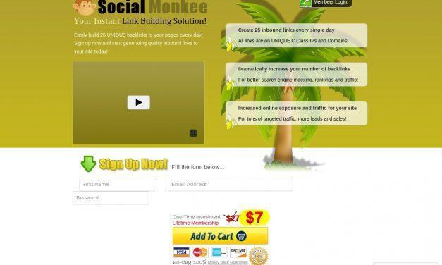 SocialMonkee – Your Instant Backlink Builder!