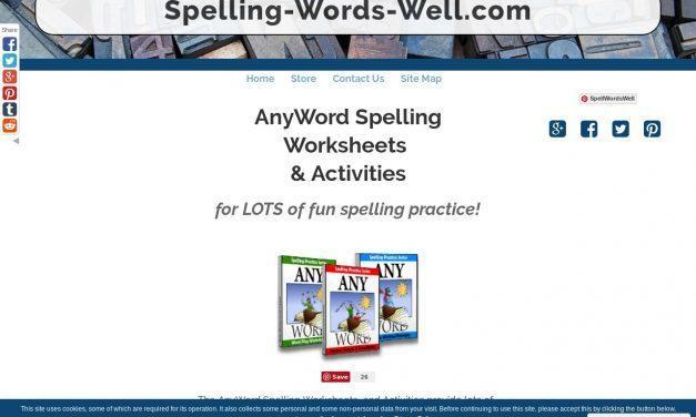 AnyWord Spelling Worksheets & Activities