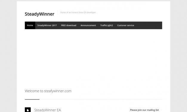 SteadyWinner – Home of an honest forex EA developer