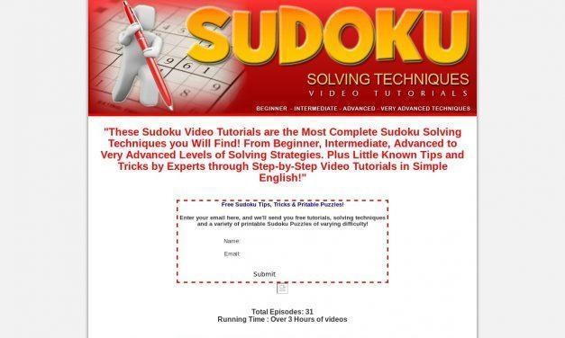 How To Solve Sudoku Puzzles – Sudoku Video Tutorials – Sudoku Solving Techniques