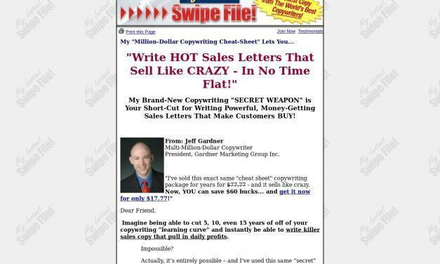 My Instant Swipe File! – Write Million-Dollar Sales Copy… Instantly!