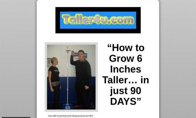 How To Grow Taller – Grow 3-6 Inches (7.62cm-15.24cm) Taller Now