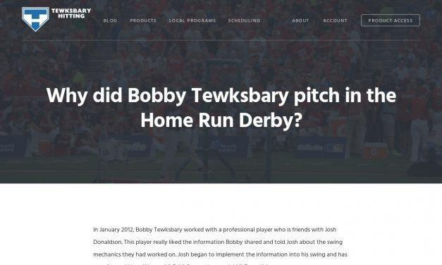Why did Bobby Tewksbary pitch in the Home Run Derby? – Tewksbary Hitting –