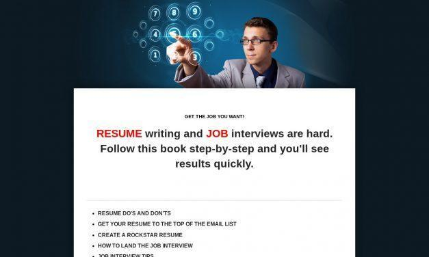 Resume writing and job interviews are hard. Follow this book step-by-step and you'll see results quickly.