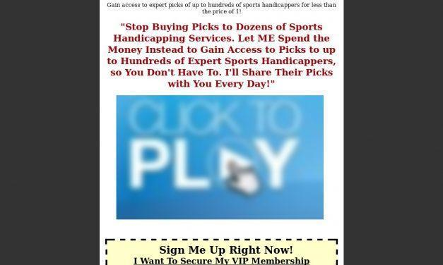 The Picks Buffet – Get Picks From Up To Hundreds Of Leading Sports Handicappers For The Price Of One!
