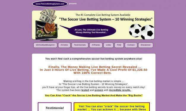 The Soccer Livebetting System 10 Winning Strategies