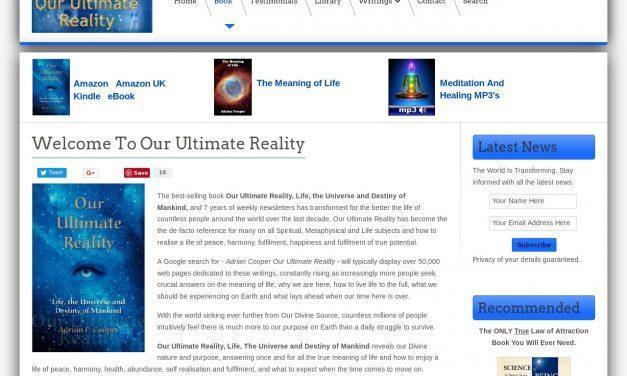Welcome To Our Ultimate Reality – Articles – Our Ultimate Reality