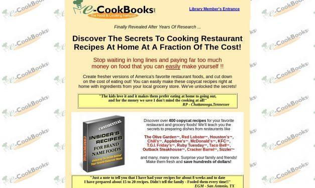 E-Cookbooks Library | Restaurant Recipes