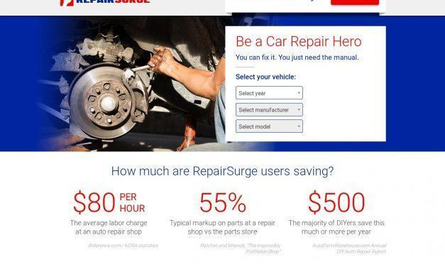 RepairSurge Online Auto Repair Manuals