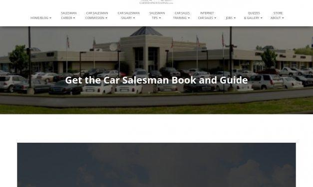 Car Salesman Book and Guide