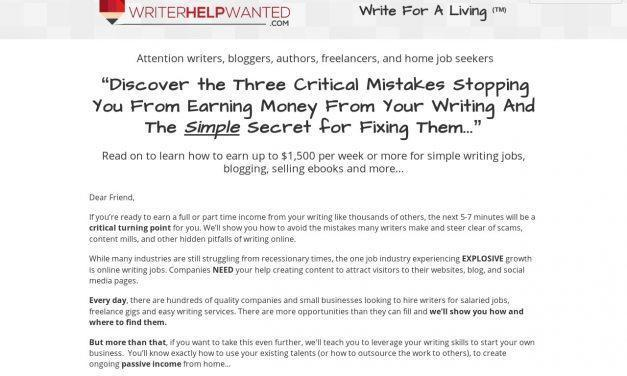 Join Writer Help Wanted ⋆