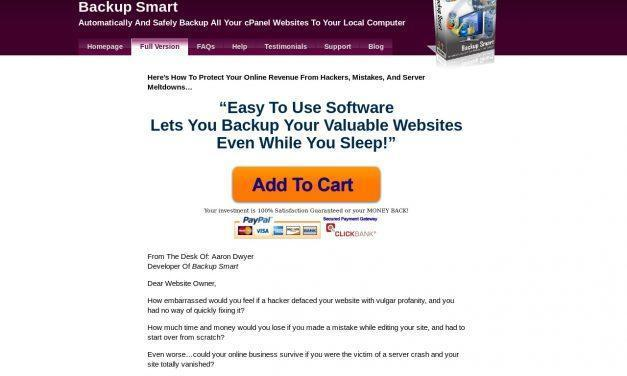 cPanel Website Backup Software | Backup Smart
